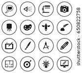 set of 16  icons set.collection ... | Shutterstock .eps vector #650822758