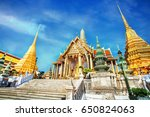 grand palace of thailand ... | Shutterstock . vector #650824063