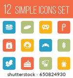 set of 12 cooking icons set... | Shutterstock .eps vector #650824930