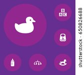 set of 6 child icons set...   Shutterstock .eps vector #650826688