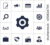 set of 13 business icons set... | Shutterstock .eps vector #650826754