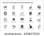 simple flat design business... | Shutterstock .eps vector #650827024