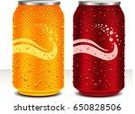 design template can cola  juice ... | Shutterstock .eps vector #650828506