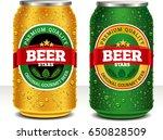 beer can design template | Shutterstock .eps vector #650828509