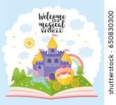 welcome to a magical world.... | Shutterstock .eps vector #650830300