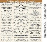 illustration set of vintage... | Shutterstock . vector #650836423
