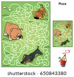 who finds a tasty bone ... | Shutterstock .eps vector #650843380