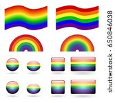 set with the flag of lgbt and... | Shutterstock .eps vector #650846038