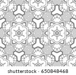 seamless abstract floral... | Shutterstock .eps vector #650848468