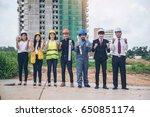 engineering team with building... | Shutterstock . vector #650851174