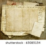 vintage background with old... | Shutterstock . vector #65085154