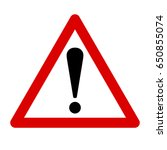 exclamation sign  danger sign | Shutterstock .eps vector #650855074
