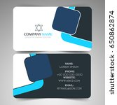 nice and creative business card ... | Shutterstock .eps vector #650862874