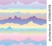 abstract wavy mountain skyline... | Shutterstock .eps vector #650864038