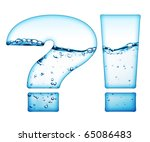 one letter of water wave... | Shutterstock . vector #65086483