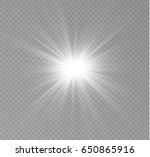 glow light effect. star burst... | Shutterstock .eps vector #650865916