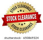 stock clearance round isolated... | Shutterstock .eps vector #650869324