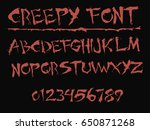 red creepy font   vector | Shutterstock .eps vector #650871268