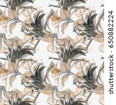 leaves seamless pattern.... | Shutterstock . vector #650882224