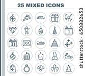 celebration icons set.... | Shutterstock .eps vector #650882653