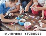 top view creative photo of... | Shutterstock . vector #650885398