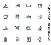 exploration outline icons set.... | Shutterstock .eps vector #650887249