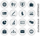 trade icons set. collection of... | Shutterstock .eps vector #650890663