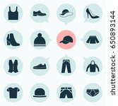 dress icons set. collection of... | Shutterstock .eps vector #650893144