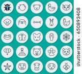 zoo icons set. collection of... | Shutterstock .eps vector #650893408
