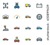 automobile colorful outline... | Shutterstock .eps vector #650899639