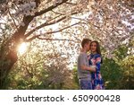 loving guy and girl in a... | Shutterstock . vector #650900428