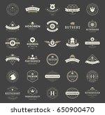 vintage logos design templates... | Shutterstock .eps vector #650900470
