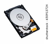 Small photo of inside of hard disk hdd isolate