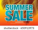 summer sale template banner in...   Shutterstock .eps vector #650913973