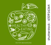 concept of healthy eating ... | Shutterstock .eps vector #650916364