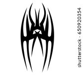tattoo tribal vector design.... | Shutterstock .eps vector #650920354