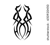 tribal tattoo art designs.... | Shutterstock .eps vector #650920450