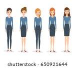 set of woman character in...   Shutterstock .eps vector #650921644