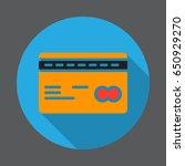 plastic credit card flat icon....