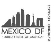 mexico df skyline silhouette... | Shutterstock .eps vector #650931673