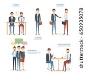 business concept working at... | Shutterstock .eps vector #650935078