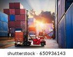 industrial container cargo...   Shutterstock . vector #650936143