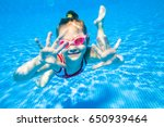 little girl deftly swim... | Shutterstock . vector #650939464