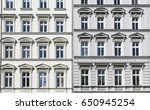 tow old houses with stucco in... | Shutterstock . vector #650945254
