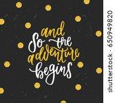 trendy hand lettering poster.... | Shutterstock .eps vector #650949820