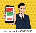 vector businessman with a smart ... | Shutterstock .eps vector #650950630