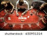 top view of men and women...   Shutterstock . vector #650951314