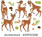 vector set of cute cartoon... | Shutterstock .eps vector #650952208