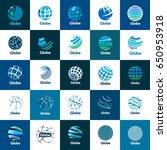 vector logo globe | Shutterstock .eps vector #650953918