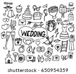 wedding doodle sketch vector ink | Shutterstock .eps vector #650954359